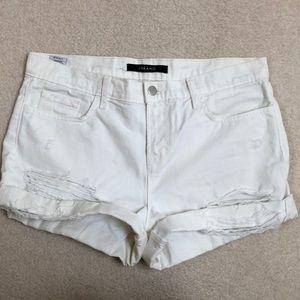 J Brand White Denim Shorts